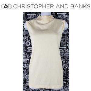 Christopher & Banks Mock Neck Shirt Size Medium